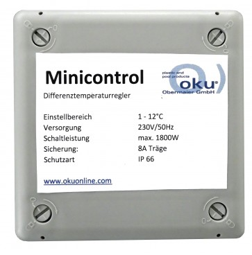 Differenztemperaturregler Minicontrol - einstellbar