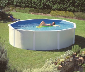 Poolset Feeling im Design weiß