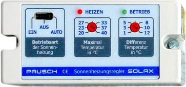 Differenztemperaturregler Solax mit Temperaturbegrenzung