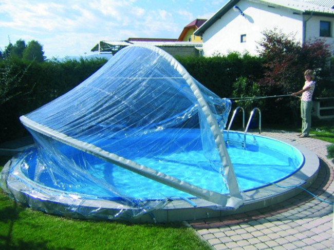 Cabrio dome f r rundbecken in 7 verschiedenen gr en for Pool innenfolie